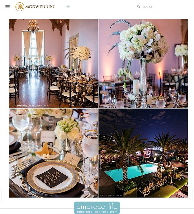 MODwedding blog featuring Greystone Mansion wedding photography in Beverly Hills, CA by Embrace Life Photographers